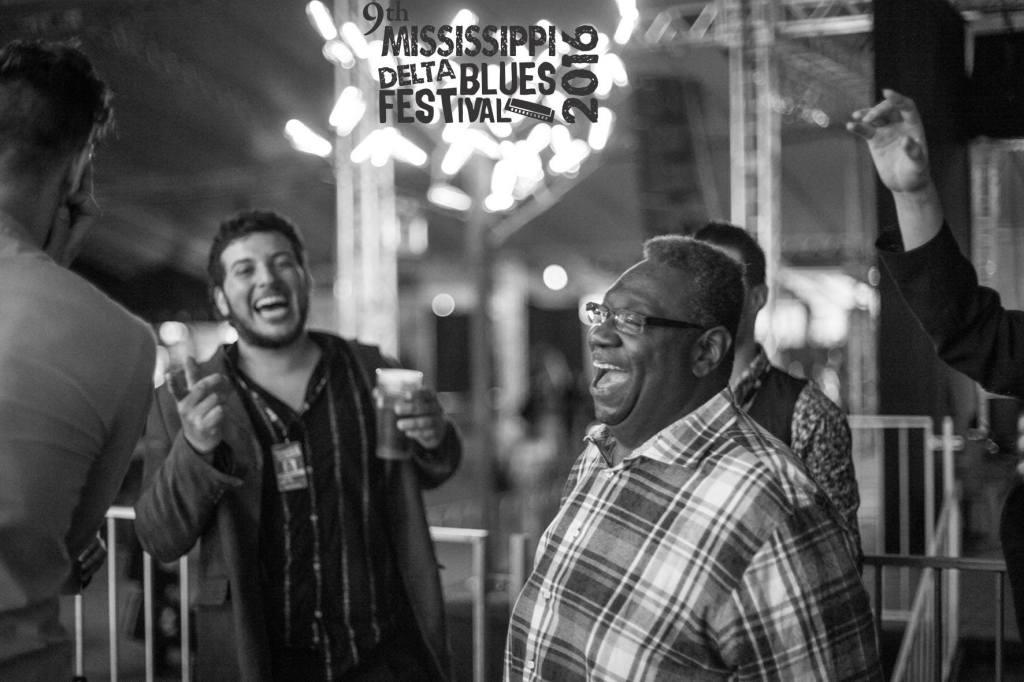 Post show en los camarines del Mississippi Delta Blues (2016)